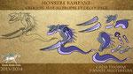 """Création d'un monstre rampant type """"papier découpé"""" pour animation """"marionnette"""" sous After Effects"""