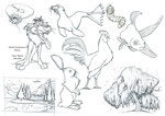 Caricatures d'animaux et de végétaux
