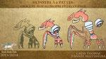 """Création d'un monstre à six pattes type """"papier découpé"""" pour animation """"marionnette"""" sous After Effects"""