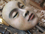 Villageoise: masque en bois 2014