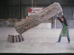 """Tronc d'arbre """"Robin des bois"""" 2006 Cie 100% Acrylique Am Stram Gram"""