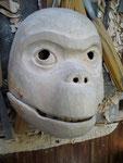 Masque de singe articulé, bois 2014