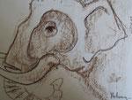 """"""" A dos d'éléphant"""" 2002 Th. de la Poudrière NE"""