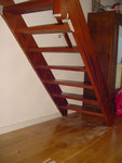 Onderkant trap voor begin van de werkzaamheden.
