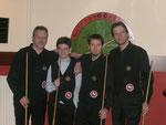 Michael Minuth, Jonas Sprengel, Jens Gürtler und Norbert Schmidt