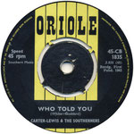 Sweet and Tender Romance/Who Told You? Oriole CB 1835 1963