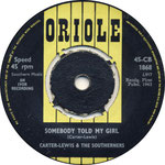 Your Momma's Out of Town/Somebody Told My Girl Oriole CB 1868 1963