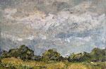 Sommer, 2018, Öl/Collage auf Leinwand, 120x80 cm, verkauft