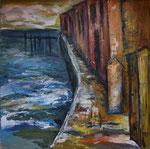 Ponte Final Lissabon, 2007, Acryl auf Leinwand, 80 x 80 cm, verkauft