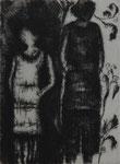 Paula&Gundi im Biesenkleid, 2009, Radierung, 15x20cm
