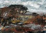 Sturm am Meer, 2015, MT auf Karton, verkauft