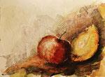 Apfel und Quitte, Collage 2019