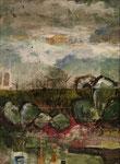 Nebelland, 2012, Collage, 29,7x42cm