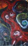 Tango, 2005, Mischtechnik/Collage, 47x74cm