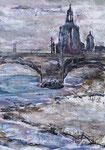 Stadtansicht Dresden, Collage2019, verkauft