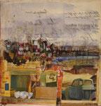 Ligurien  I, 2012, Collage, 28x28cm