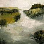 Flussmündung, 2016, Öl auf Leinwand, 40x40cm, verkauft