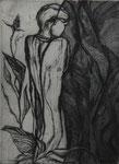 Herbstzeitlose, 2004, Radierung, nach einem Gedicht von Else Lasker-Schüler, 21,5 x 29,5 cm