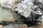 Kirschgestrüpp,2015, Collage auf Karton