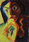 Zerissen, 2004, Acryl auf Leinwand, 30x44cm