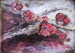 Blütenzweig, 2020, Collage, 30x21 cm