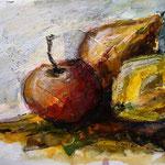 Apfel, Birne und Quitte, Collage 2020