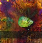 Green Fish, 90x90cm, Acryl