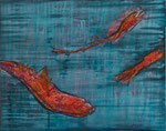 Deep Sea, 40x50cm, Acryl Collage