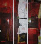 Leinwand-Acryl - je 90 x 30 cm