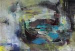 Acryl - Rahmen 50 x 70 cm - Seerosenteich 2