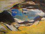 Leinwand-Acryl - 40x30 cm - Bergsee