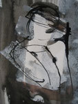 Aquarell - Rahmen 30x25 cm - Träumende