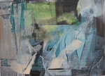 Acryl - Rahmen 70x50 cm  - Seenlandschaft1