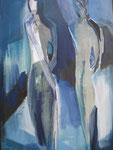Leinwand-Acryl - 50x30 cm  - Figuren