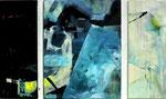 Leinwand-Acryl - dreiteilig - 2x20x50cm, 1x40x50cm
