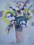 Aquarell - Rahmen 50x40 cm - Blumen1