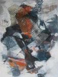 Leinwand-Acryl - 70x50 cm  - Netz-Kopf