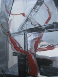 Acryl - Rahmen 50x40 cm -Baum am Fenster