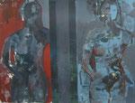 Acryl - Rahmen 50x70 cm - Etruskische Skulpturen