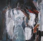 Leinwand-Acryl - 60x60 cm  - Körper - Tryptichon3