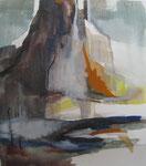 Aquarell - Rahmen 40x50 cm - Berglandschaft
