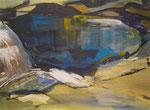 Acryl - Rahmen 60x 80 cm - Bergsee