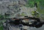 Acryl - Rahmen 50 x 70 cm -  Seerosenteich 4