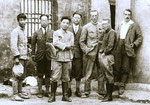The Chou-Kou-Tien team in 1929. From left: Pei, Young, two students, Teilhard, Davidson Black, George Barbour.