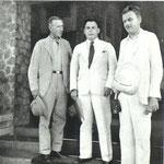Teilhard de Chardin, Ralph von Koenigswald and Helmut de Terra in Java, 1938
