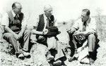 Dr. B. Malan, Teilhard and Dr. van Riet Lowe 1951, South Africa