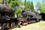Die E2 954 von 1908 stand nach einigen Stunden Vorbereitungen wieder unter Dampf! Litsnäset/S 16.Juni 2016.