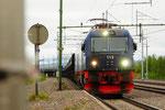 IORE 113 durchfährt die Station Rensjön/S