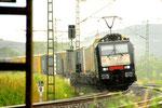 TX Logistik 189 908 in der Regenschauer bei Gemünden/D