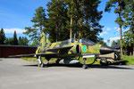 SK 37 Viggen des Jämtlands Flyg Museum in Östersund/S